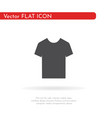 t-shirt icon for web business finance and vector image vector image
