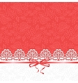 white lace on red background vector image vector image