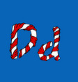 wrapped in a ribbon letter d blue and red letter vector image