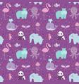 animals cartoon wildlife nature seamless pattern vector image