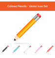 colored pencils isolated on a white background vector image