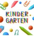 Kindergarten preschool template learning study vector image