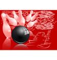 Christmas bowling strike vector image