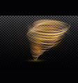 a glowing tornado rotating wind beautiful wind vector image vector image