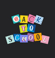 abstract back to school funny concept vector image vector image