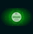 abstract background with green hud circle vector image vector image
