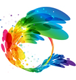 Abstract colorful circle frame vector image