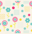 abstract simple floral seamless pattern vector image