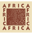 Africa background with text and texture Giraffe vector image vector image