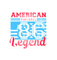 american legend vector image