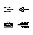 arrows simple related icons vector image vector image