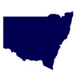 australia new south wales state silhouette vector image