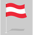 Austria flag Official national mark of Republic of vector image