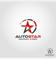 auto star - auto speed logo template vector image