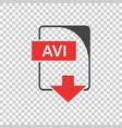 avi icon flat vector image