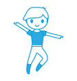 ballet dancer boy icon vector image