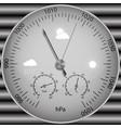 barometer for determining atmospheric pressure vector image vector image
