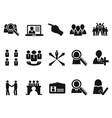 black job icons set vector image