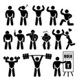 body builder bodybuilder muscle man workout vector image vector image