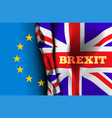 brexit exit great britain from the vector image vector image