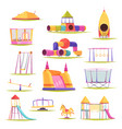 children playground elements set vector image vector image