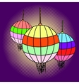 Chinese lanterns pop art vector image