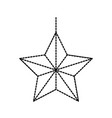 christmas star ornament celebration decoration vector image vector image