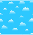 cloud sky cartoon seamless pattern vector image