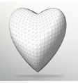 Creative concept Background of the heart Abstract vector image vector image