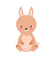 cute cartoon rabbit in flat style vector image vector image