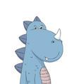 cute little dinosaur cartoon character vector image vector image