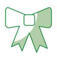 decorative bowtie isolated icon vector image