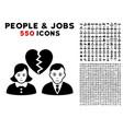 divorce people icon with bonus vector image