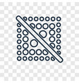 dot crossed concept linear icon isolated on vector image
