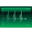 EKG monitor vector image vector image