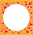 empty valentine day pattern card for sign vector image vector image
