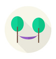 Flat Nature Trees with Hammock Circle Icon with vector image vector image