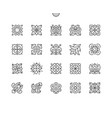 floral embroidery well-crafted pixel vector image vector image