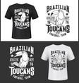 football team toucan mascot t-shirt prints mockup vector image vector image
