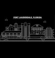 fort lauderdale silhouette skyline usa - fort vector image vector image