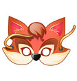 fox mask carnival and masquerade accessories vector image vector image