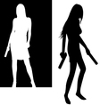 girls with guns vector image vector image