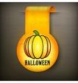 Halloween sticker on black vector image