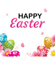 happy easter egg greeting card background vector image