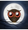 Happy Halloween cute owl vector image