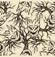 happy halloween vintage seamless pattern vector image vector image
