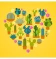 I love cactuses logo vector image