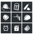 Installation windows Icons set vector image vector image