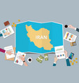 iran country growth nation team discuss with fold vector image vector image