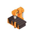 isometric assembly line vector image vector image